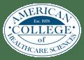 white ACHS logo